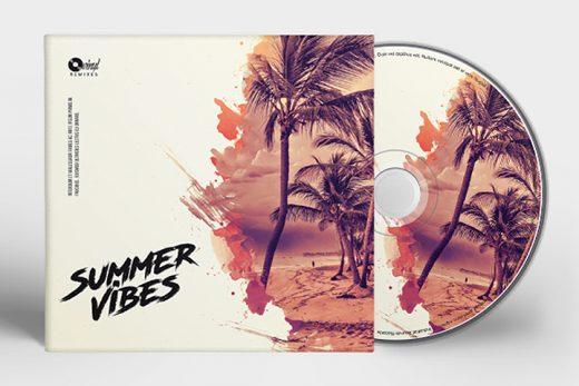 summer house music CD cover templates