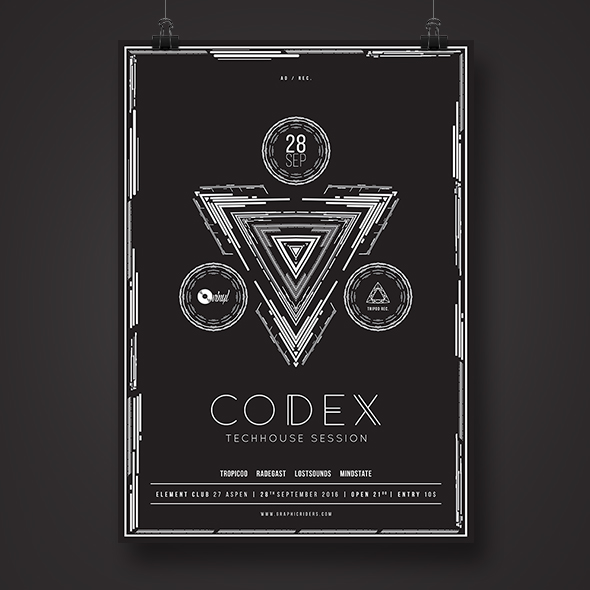 monochrome poster template
