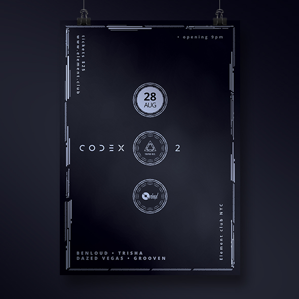 dark minimal poster template