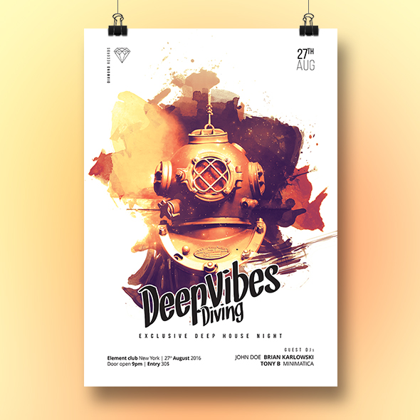 deep vibes poster template