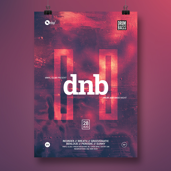 dnb party flyer template