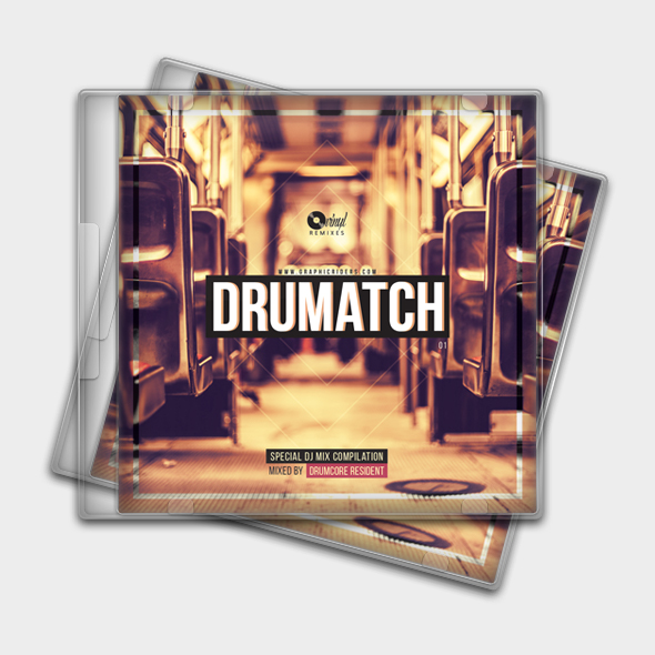 drum and bass cd cover template
