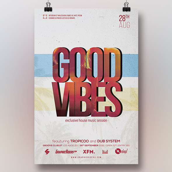 good vibes flyer template