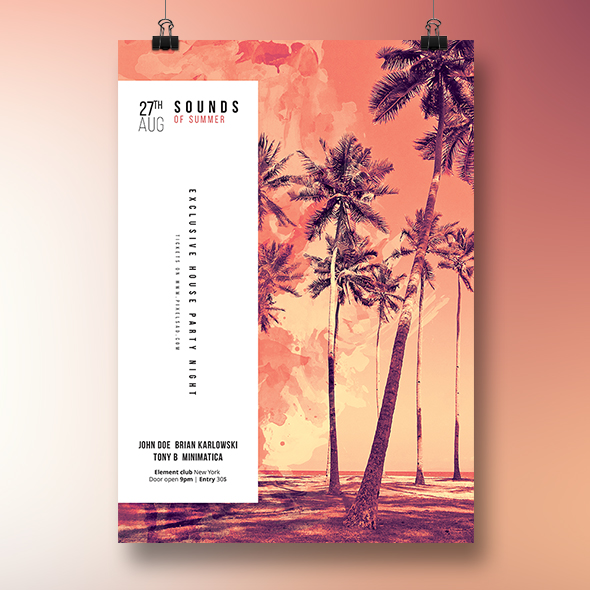 summer duotone flyer template