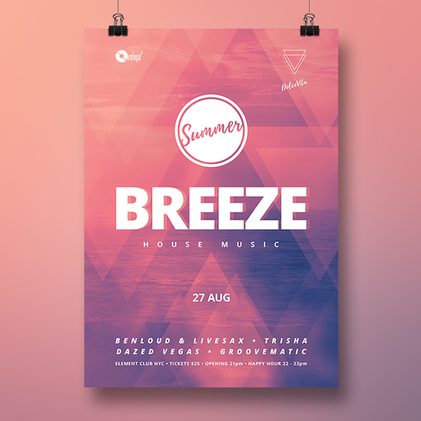 minimal summer flyer template