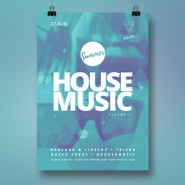 house music flyer template