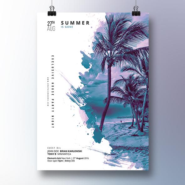 summer poster design template