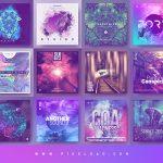 psytrance album cover templates