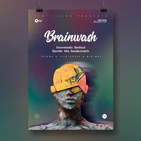 brainwash poster template
