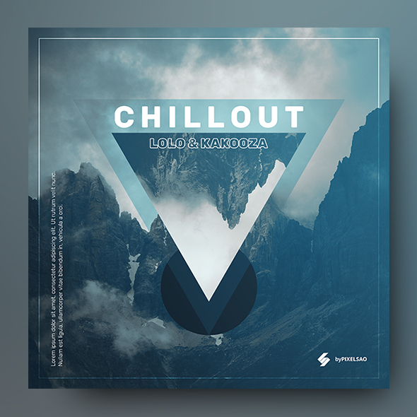 mountain chillout album cover template