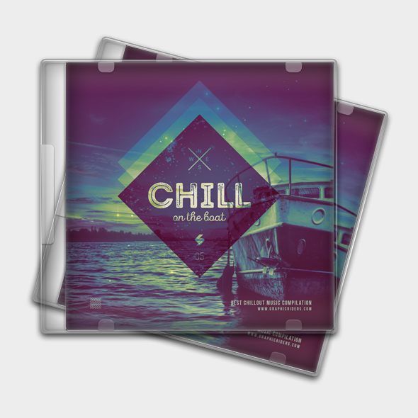 chill on the boat cd cover template