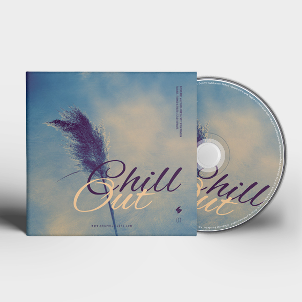 chill out cd cover template