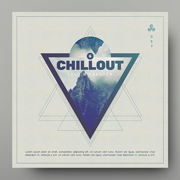 chillout album cover template