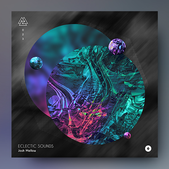 abstract scifi album cover template