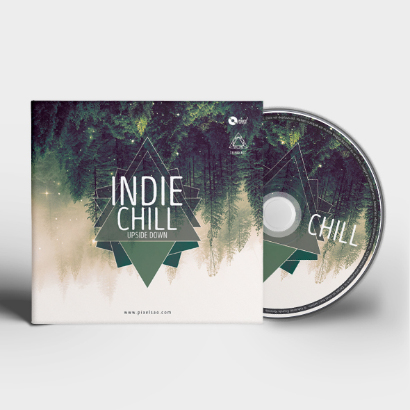 indie chill cd cover template