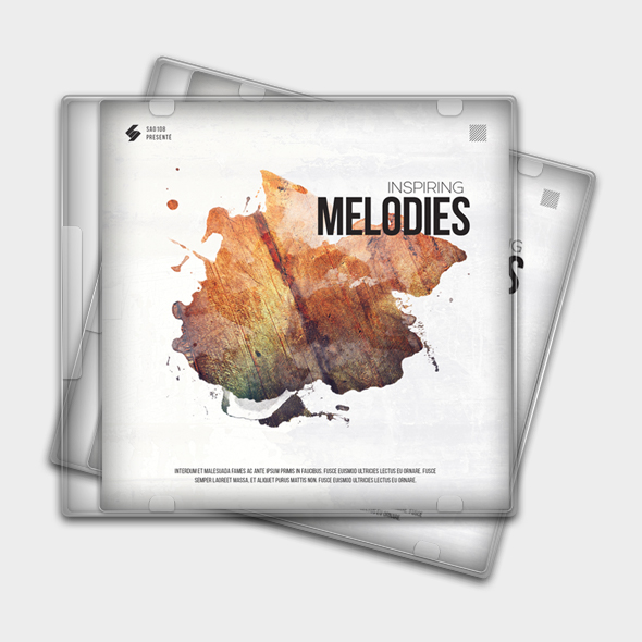 inspiring melodies cd cover template