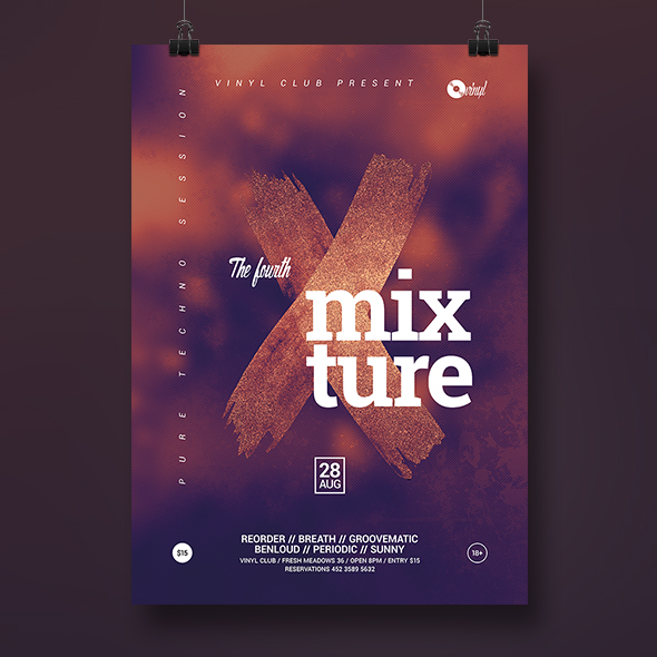 mixture poster template