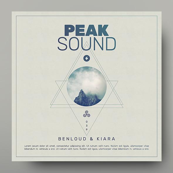peak sound album cover template
