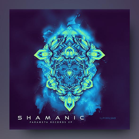 shamanic album cover template