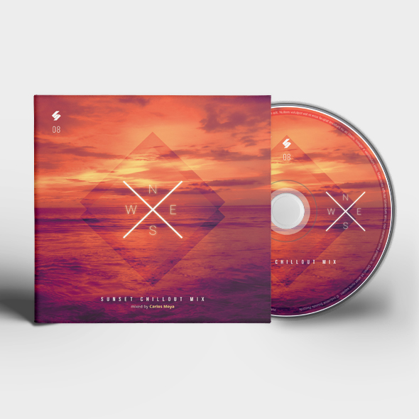 sunset chillout cd cover template