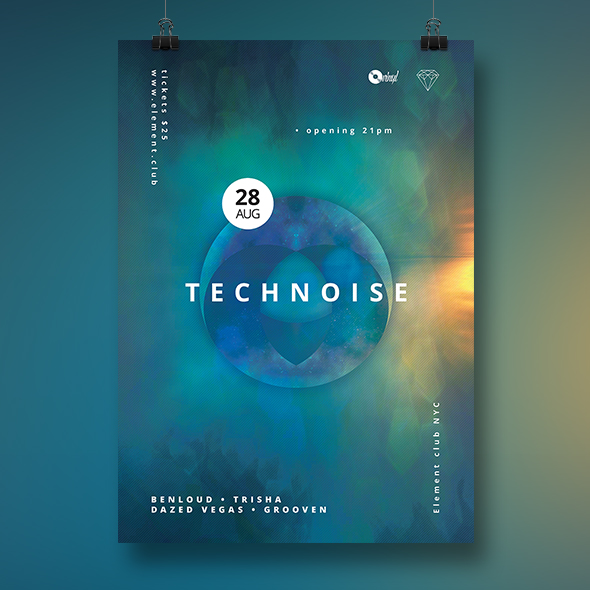technoise poster template