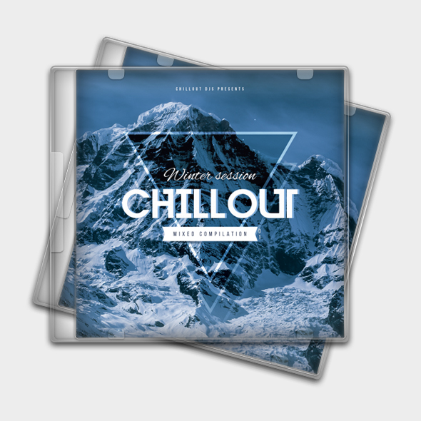 winter chillout cd cover template