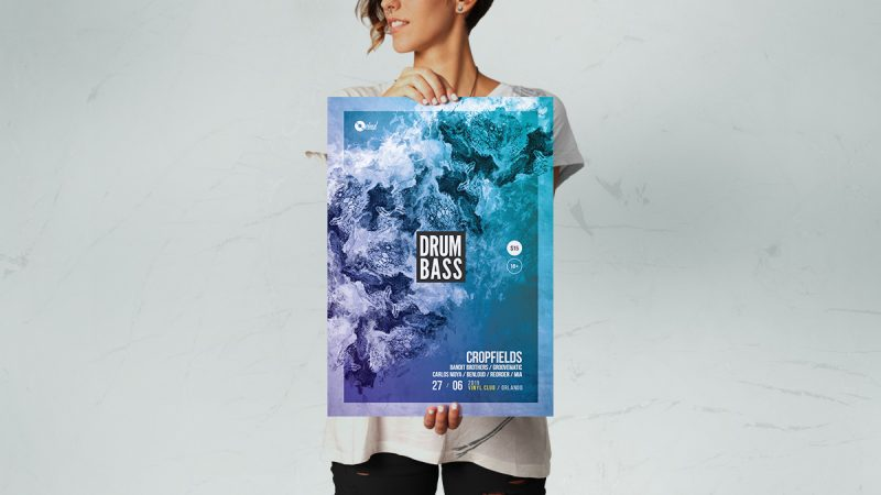 drum and bass poster templates