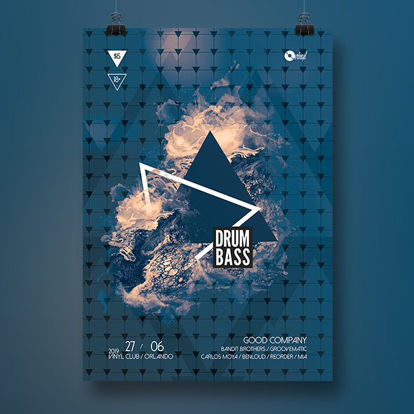 dnb poster template