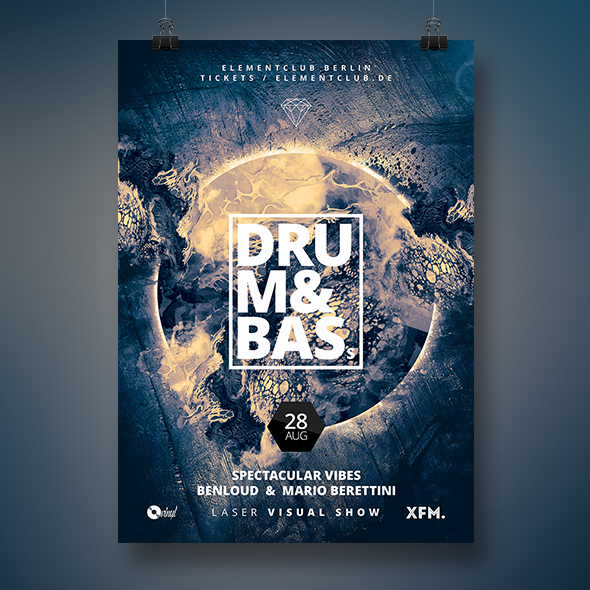 drum and bass poster template