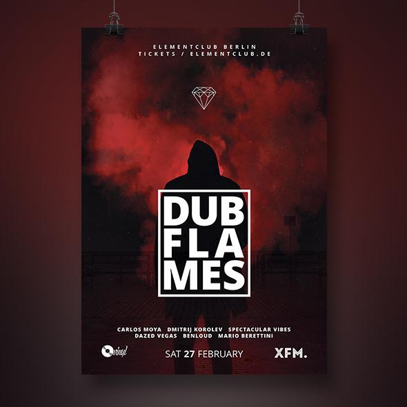 dub techno poster template