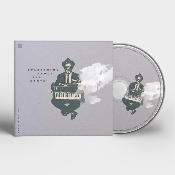 minimal CD cover artwork template