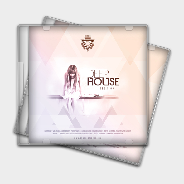 deep house cd cover template