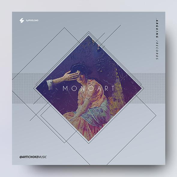 minimal album cover design