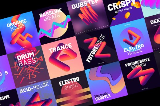 music podcast cover art templates