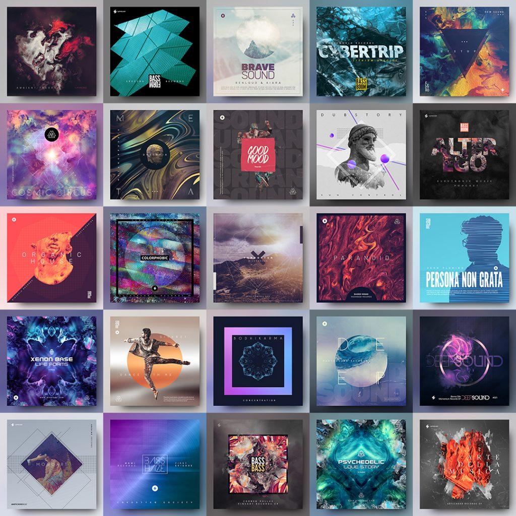 album cover templates sale