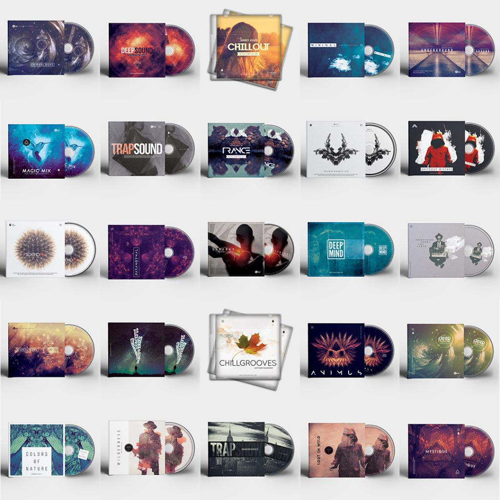 CD cover templates sale