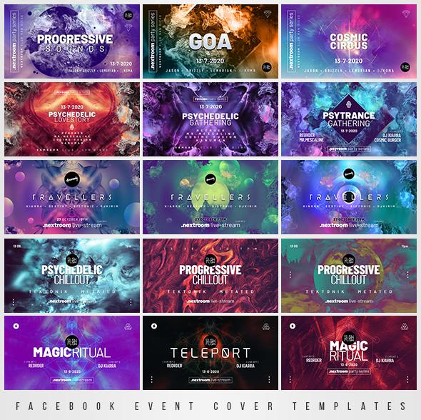 psytrance event facebook banners