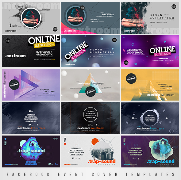 live streaming dj session banners