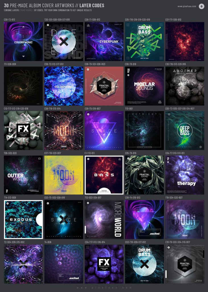 30 premade album cover artworks