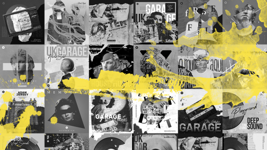 garage music album cover templates