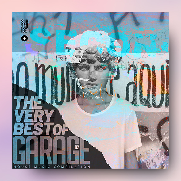 garage house music cover template