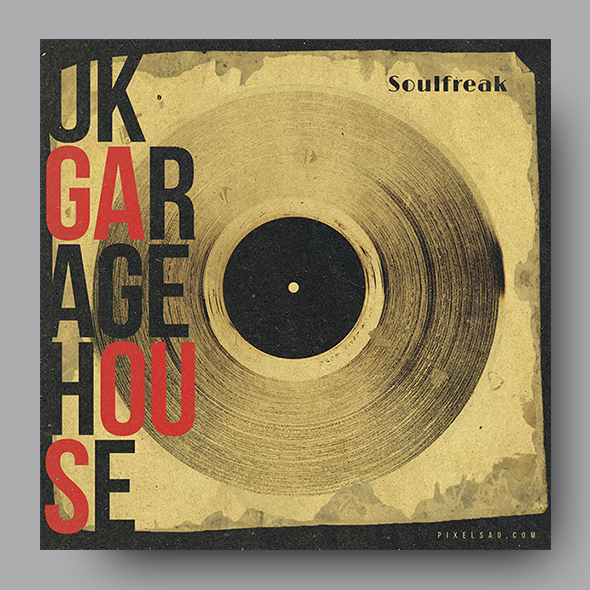 vinyl house music cover template