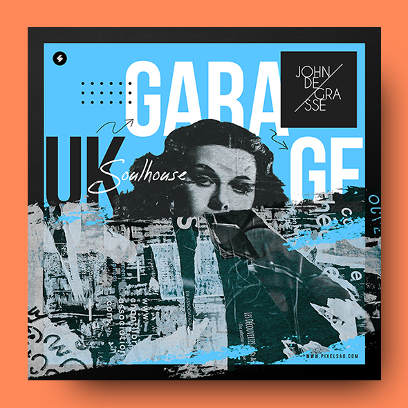 garage music album cover psd