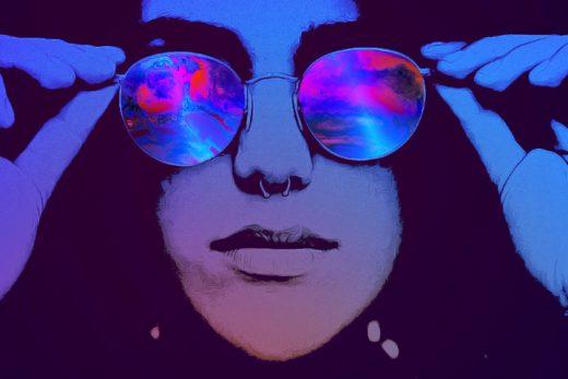 acid music album cover templates