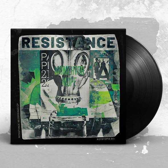 distressed album cover